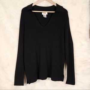 Talbots Black Collar Shirt size 1x